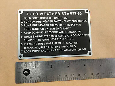 Military Truck 6X6, 5-Ton 11664655 Instruction Plate
