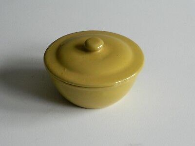 Old Yellow Glazed Stoneware Covered Bowl - Mystery Maker