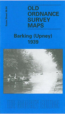 Old Ordnance Survey Map Barking Upney 1939 Longbridge Road Lodge Avenue