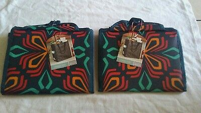 Target Classic Tote Folding Reusable Bags Grocery Bag Lot of 2 New
