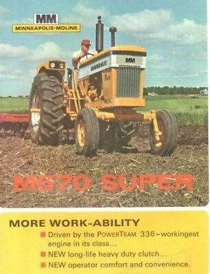 New Minneapolis Moline 11 x 17 Laminated Poster MM M670 Super Tractor