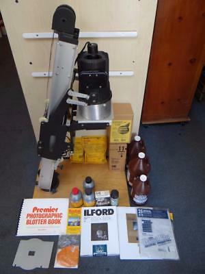 Simmon Omega D2 Photo Enlarger + Accessories Large Lot LOOK! TM4622
