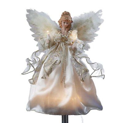 Light Up Christmas Tree Topper Decoration 12 Inch Gold Angel Treetop Kurt Adler
