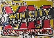 New Minneapolis Moline 11 x 17 Laminated Poster This Farm Is MM Twin City Operat