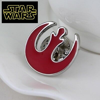 STAR WARS REBEL ALLIANCE Logo Metal Pin brooch prop badge darth vader cosplay