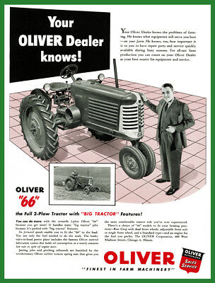 New Oliver 11 x 17 Laminated Poster Oliver 66 Your Dealer Knows 1950's Ad