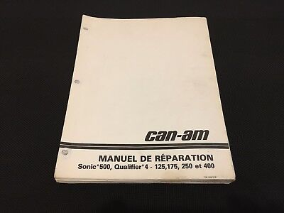 Can-am Sonic Qualifer 4 service manual