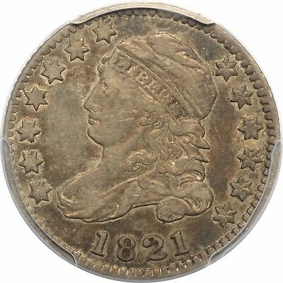 1821 Capped Bust Dime - Large Date - PCGS VF35 - JR-5 R3