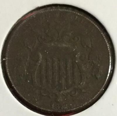 1872 US Shield Nickel! Extra Fine Details! Old US CoinS