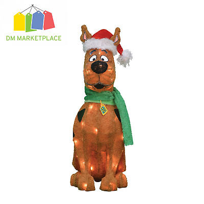 "20"" Scooby-Doo with 35ct Clear Lights Yard Patio Outdoor Indoor Christmas Decor"