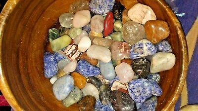 5 Natural Assorted Tumbled Stones XL Colorful Gemstone mix Large
