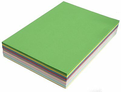A4 250 Sheets Mixed Assortment Coloured Paper Card 160gsm Ream-Wrapped