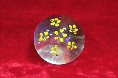 1850's Old Vintage Antique Beautiful Solid Glass Paper Weight Collectible PK-51