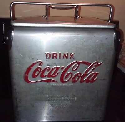 NICE RARE 1950's ACTON COCA-COLA STAINLESS STEEL 6 PACK COOLER COKE