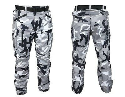 Motorbike Motorcycle Waterproof Cordura Textile CE Armour Pants Trousers Camo UK