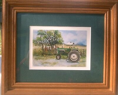 """New Oliver 1555 Tractor Print """"That's Oliver"""" Nicely Matted & Framed  8 x 10"""