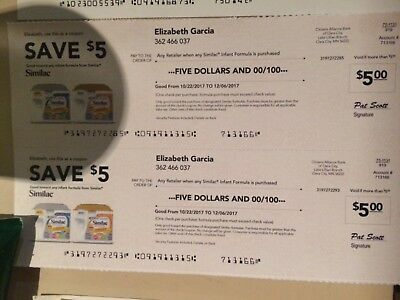 Similac Formula Coupons Lot Of 2 $5.00, So $10 Total Expires 12/06/17