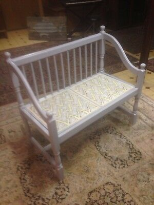 Unique grey spindle bench from the 70's