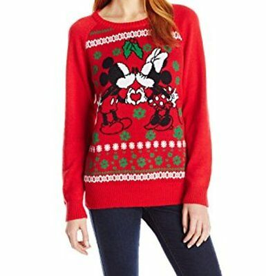 Disney Christmas Sweater with Mickey and Minnie Cute to Be Ugly New