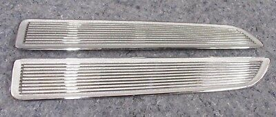 BARRACUDA HOOD INSERTS 67 - NEW CHROME SHOW!!! cuda grille 1967