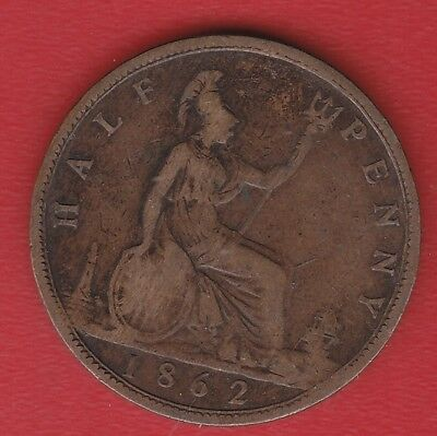 Great Britain Half Penny 1862