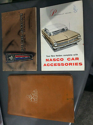 Holden Gmh Nasco Eh Owner Manual Owner Guide Folder 1963 Premier And Special