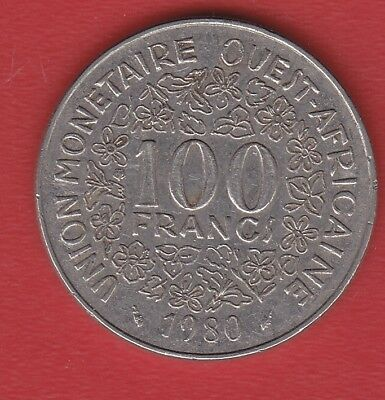 Oue Africa 100 Francs 1980