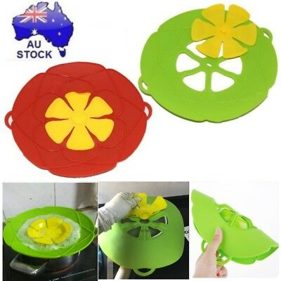 Silicone Spill Lid Pan Pot Cover Overflows Boil Kitchen Cooking Stop Gadgets