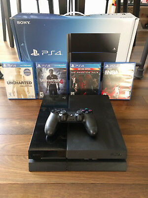 Sony PS4 Playstation 4 - 500GB Console, Controller, & 4 Games