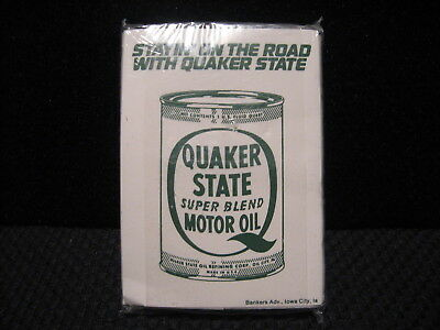 Vintage Old School 80's Quaker State Super Blend Motor Oil Pocket Tissues