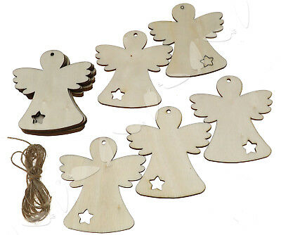 10 X Wooden Christmas Xmas Tree Hanging Accessories Gift Deer Wings Doll