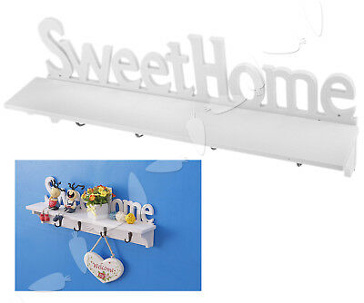 Retro Sweet Home Decor Wood Clothes Hat Bag Hangers 4 Hooks Wall Mounted