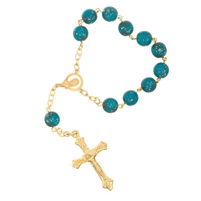 NEW Roman Inc Decade Blue Rosary