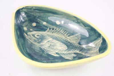 Vintage Australia Pottery Janet Gray Hand Painted Fish Bowl