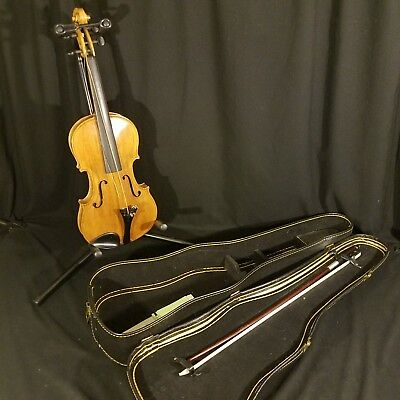 Antique Violin Made in Nippon Parts or Repair Marco Briere Bow