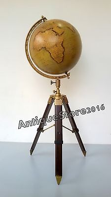 Antique World Globe With Tripod Stand Vintage Home Decor Item style