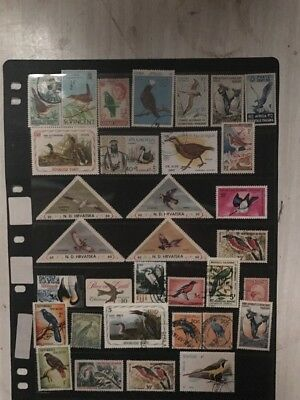 stamps  Birds Thematic - 33 Off  - MH and Used - Lot 666