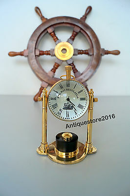 Nautical Brass Table Clock Dia 2 inch Vintage Decor Best Vintage Best Gift