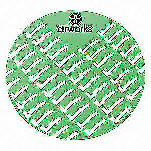 AIR WORKS Urinal Screen,Round,Evergreen,PK60, AWUS005