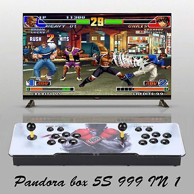 Real Pandora's Box 5S+ Multiplayer Home Arcade Console 999 Games in 1 Led Light