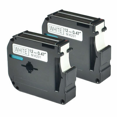 2 Compatible Brother M231 M-K231 MK231 Label Tape for P-touch PT-70BMH US-Stock