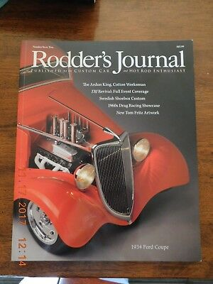 """Rodder's Journal 62. 1934 Ford Coupe. """"Magic Muffler"""" Fuel Altered. Very good."""