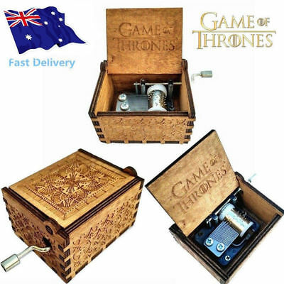 Hot GAME OF THRONES Theme Music Box Engraved Wooden Music Box Crafts Xmas Gift