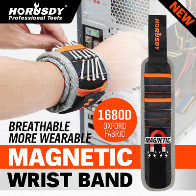 Magnetic Wrist Band Strap Magnet Tools Holder Screws Bolts Nuts Nails Handy