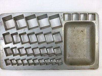 Antique 1890 STAATS COIN MONEY Sorting Tray VINTAGE CAST IRON