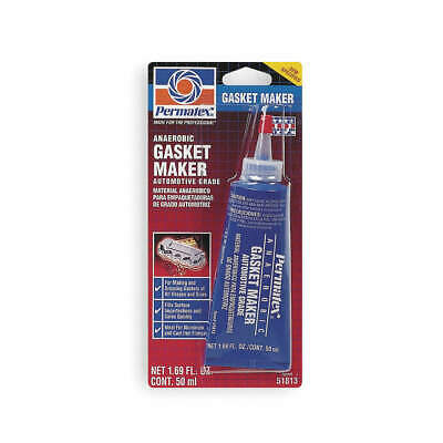 PERMATEX Anaerobic Gasket Maker,50mL Tube,Red, 51813, Red