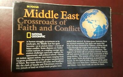 National Geographic Mag -supplement map middle east    - free post