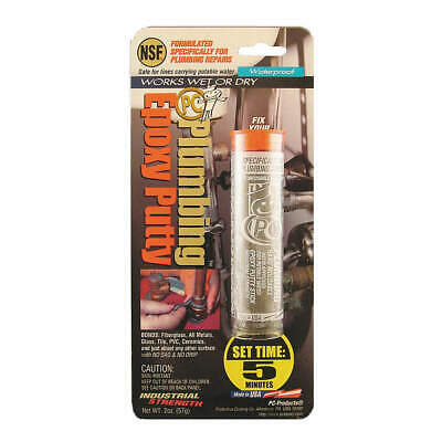 PC PRODUCTS Putty,2 Part Plumbing Epoxy,2 Oz Pkg,Gry, 025598, Gray