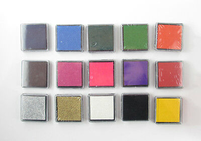 Colourful Small Stamp Pads 4x4cm Ink Pads - Craft, DIY, Scrapbooking, Invitation