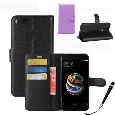 HQ Wallet Money Card Leather Case Cover for Xiaomi Mi A1 / 5X + FREE Stylus